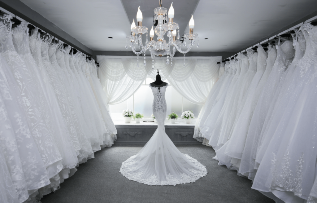 Photo of wedding dresses in Scottsdale - a white dress in bridal shops in scottsdale, az